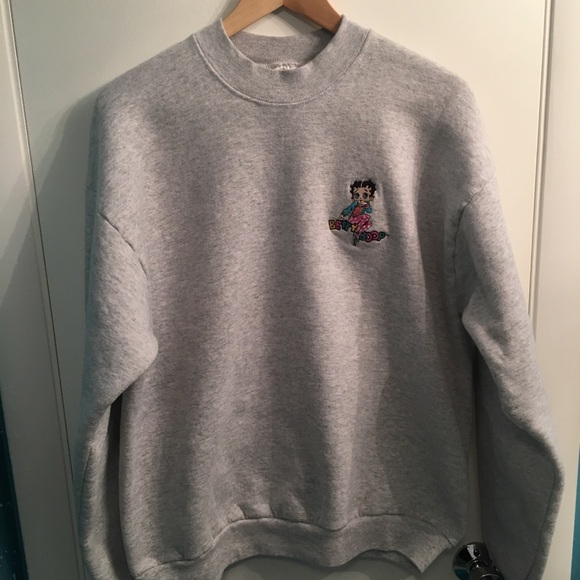 ae766887d03 Vintage Betty Boop Embroidered Crewneck Sweater